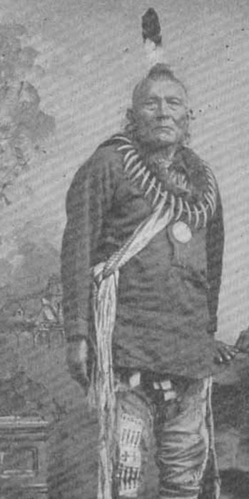 Узнаете прообраз (правда, с пером) стиля причесок «хохолков» (а также «ежиков»), известного теперь под наименованием «ирокез», или, иначе, «мохавк»? Это фрагмент с фотографии 1912 г., и на ней изображен индеец племени пауни (pawnee, принадлежат к юто-ацтекской (uto-aztecan) языковой семье, т.е. это отнюдь не ирокезы). Пауни в прошлом были распространены на территориях современных штатов США Небраска и в северной части Канзаса, а ныне живут в штате Оклахома).
